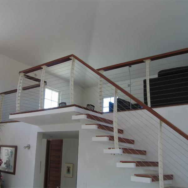 Outdoor Floating Stairs Florida Project: Anitique Style Customized One Side Stringer Floating