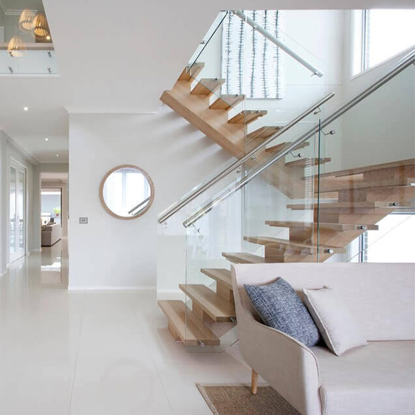 Unique Design Space Saving Small Straight Staircase With