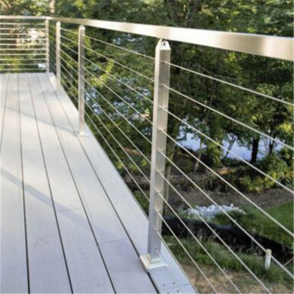 Hot Sale Outdoor Polish Stainless Steel Cable Deck Railing