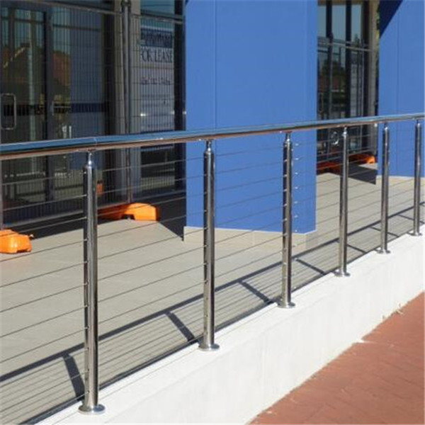 high quality polished stainless steel wire balustrade for exterior terrace