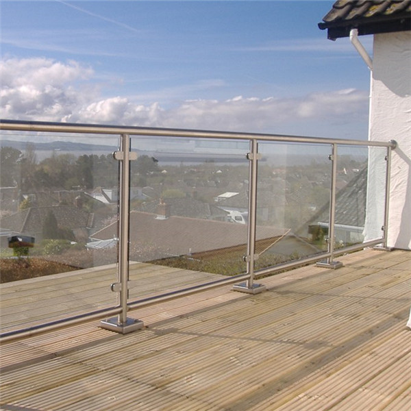 Exterior Tempered Glass Balcony Terrace Deck Baluster