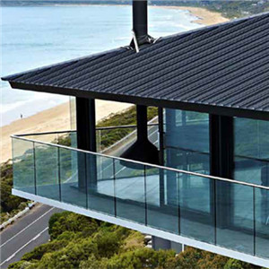 Side Mount Glass Railing U channel Glass Balustrade Balcony Railing