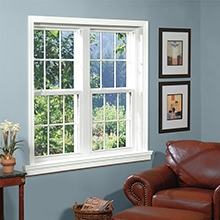 Good quality double hung aluminum window with grilles