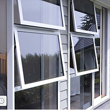 Top quality tempered glass aluminum awning window