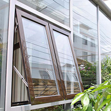 Double glazing glass aluminum alloy awning window