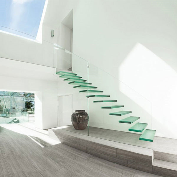 Outdoor Floating Stairs Florida Project: Prevailing Prefabricated Invisible Stringer Floating