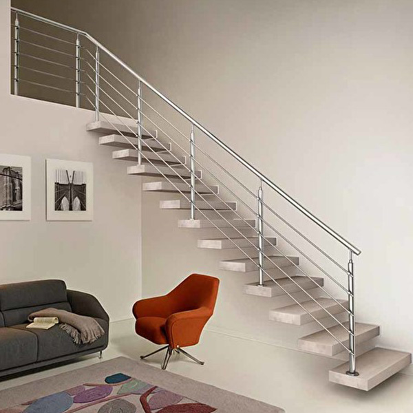 New Popular Style Wood Stair Treads Floating Staircase ...
