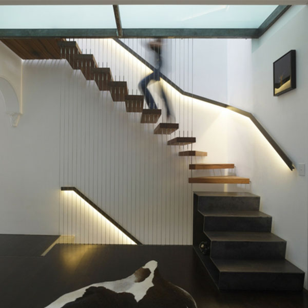 Outdoor Floating Stairs Florida Project: New Popular Style Wood Stair Treads Floating Staircase