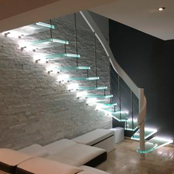 Outdoor Floating Stairs Florida Project: Factory High Quality Customized U/L Shape Or Straight