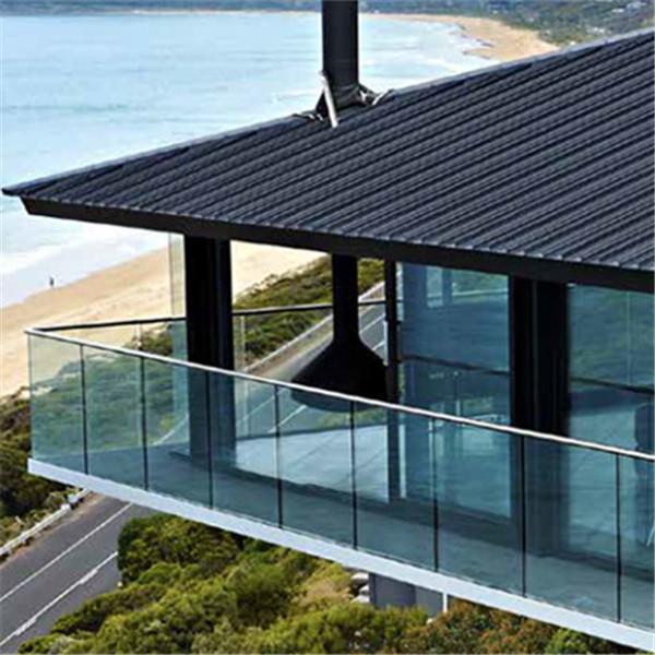 Side Mount Glass Railing U channel Glass Balustrade ...