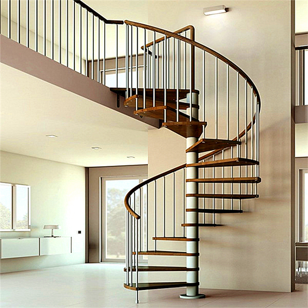 Antique Design Interior Single Post Spiral Staircase With ...