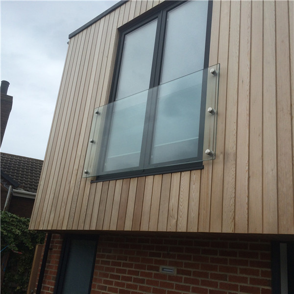 Balcony Glass Frameless Wall Mount Glass Railing With ...